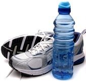 running-shoes-water-bottle